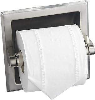 BGL Stainless Steel 304 Recessed Toilet Paper Holder (Brush Nickel)