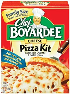 Chef Boyardee Pizza Kit, Family Size, Cheese, 31.85 oz (Pack of 6)