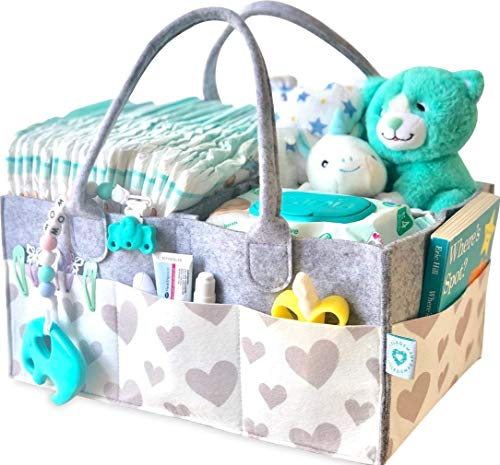 Baby Diaper Caddy Organizer - Portable...