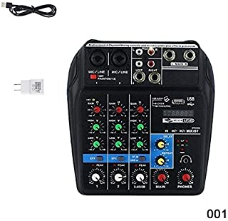 Dastrues Mini USB Audio Mixer Amplifier Amp Bluetooth Board 48V Phantom Power 4 Channels for DJ Karaoke