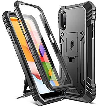 Poetic Revolution Designed for Samsung Galaxy A01 Case [ONLY FIT US Version  Verizon AT&T MetroPCS] Full-Body Rugged Shockproof Protective Cover with Kickstand Built-in-Screen Protector Black