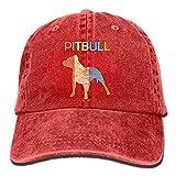 Rghkjlp Pitbull Vintage Vintage Washed Dyed Cotton Twill Perfil bajo Gorra de béisbol Ajustable Navy Fashion32