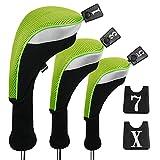 Andux coprimazza da golf Wood driver intercambiabili N. giorno 3di set MT/MG, Long Neck, Green, MT/MG24