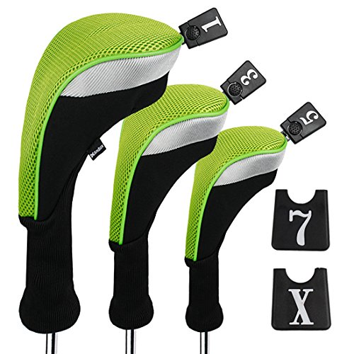 Andux 3pcs/Set Golf 460cc Driver Wood Head Coverss with Interchangeable No....