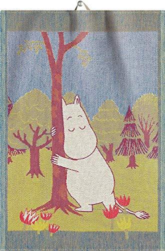 Mumins - Handtuch / Küchentuch -Glücksbaum- Mehrfarbig, 35x50 cm
