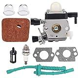 Runfon Reabastecimiento del Hilo de Recorte del carburador Kit carburador Compatible con Sthil Fs38 FS45 FS46 Fs55 km55 Fs85 Edger