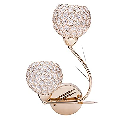 Lightess Crystal Wall Sconce Lighting for Bathroom Home Sconces Light