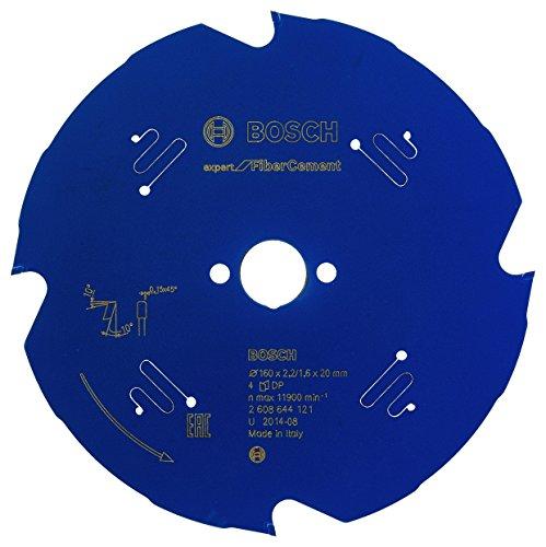Bosch Professional Kreissägeblatt Expert for Fiber Cement (Faserzement, 160 x 20 x 2,2 mm, 4 Zähne, Zubehör Kreissäge)