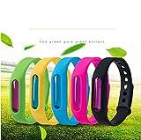 woxia capsule per repellenti per zanzare braccialetti braccialetto per piante naturali anti-zanzare sicuro per bambini braccialetti per adulti braccialetto anti zanzare per estate 10 pezzi