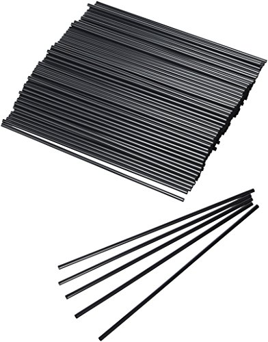 Collins Straws Black 8 Inch - Box of 1000 | Tall Drinking Straws, Hiball Drinking Straws