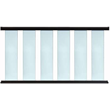 Contractor Handrail Glass Deck Railing Kit 6 ft x 36 - Hammered Black
