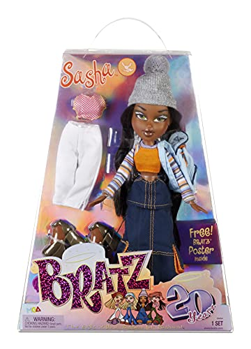 Bratz 20 Yearz Special Anniversary Edition Original Fashion Doll Sasha with Accessories and Holographic Poster | Collectible Doll | for Collector Adults and Kids of All Ages
