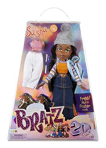 Bratz Edición Especial 20 Años Muñeca de Moda Original Sasha - Caja holográfica y...