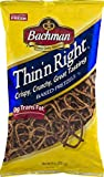 Bachman Thin'n Right Baked Pretzels- Crispy, Crunchy, Great Tasting 9 oz. Bags (4 Bags)