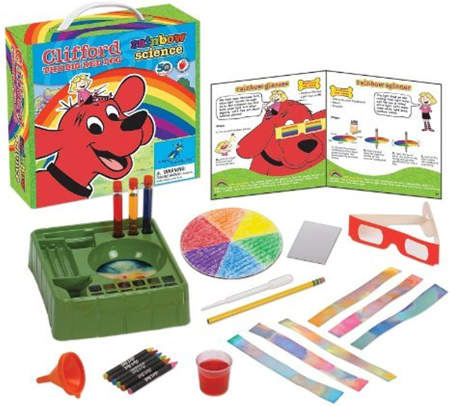 promociones de descuento Young Scientist Club Clifford The Big rojo Dog Dog Dog Rainbow Science Kit by Clifford The Big rojo Dog  clásico atemporal
