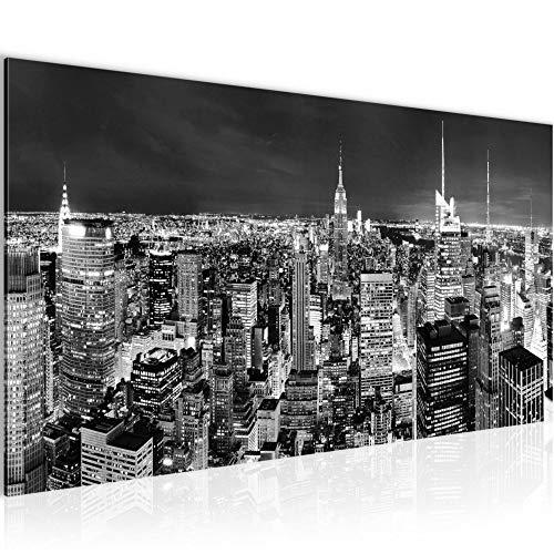 Wandbilder New York Skyline 1 Teilig Modern Vlies Leinwand Wohnzimmer Flur Amerika NY Schwarz Weiss 036212c