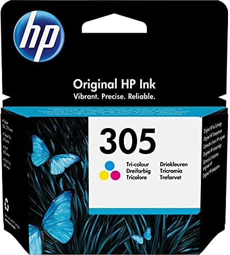 HP 305 3YM60AE Cartuccia Originale, da 100 Pagine, per Stampanti a Getto di Inchiostro HP DeskJet 2700,...