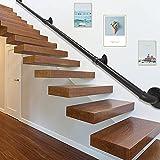 3M Barandilla Vintage,KOSIEJINN Pasamanos para Escalera Kit Completo Asa de Seguridad Barandilla Metal Hierro Forjado Interior y Exterior Paraantideslizantetubería Galvanizado Industrial Balaustre