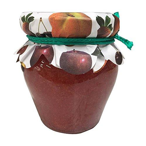 Mermelada de Fresa de 120gr en miniatura tarro de cristal para regalar a invitados en Comuniones, Bodas y Bautizos