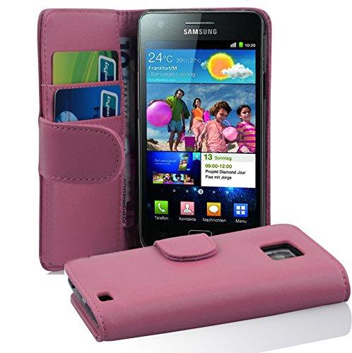 Cadorabo Funda Libro para Samsung Galaxy S2 / S2 Plus en Rosa Antiguo - Cubierta Proteccíon de Cuero Sintético Liso con Tarjetero y Función de Suporte - Etui Case Cover Carcasa