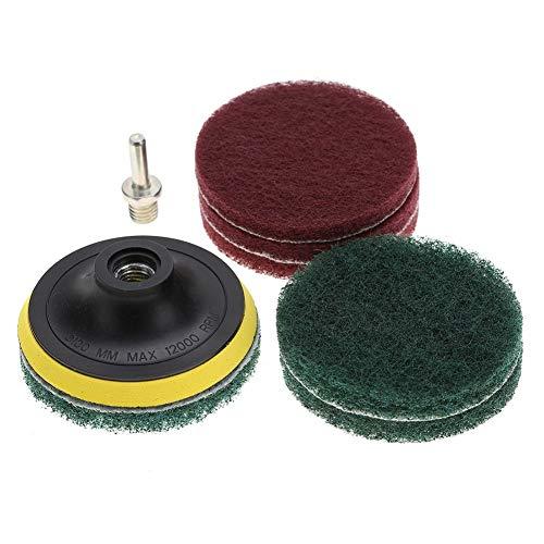 Boor reinigingspads - Tegel Scrubber Metalen Polijsten Reinigingspads Borstels Boor Bevestiging Cleaner Tool met Schacht