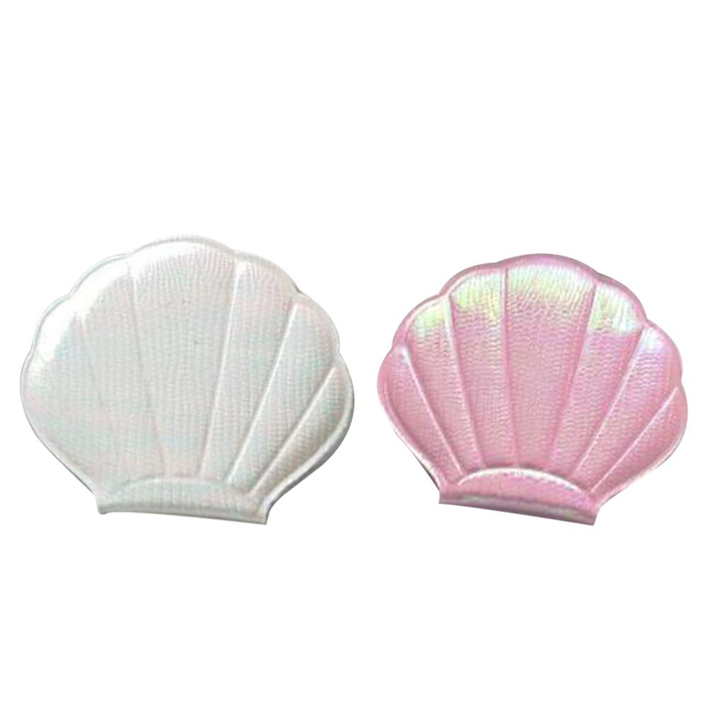 Branded goods Lurrose Compact Makeup Mirror 2pcs M Inexpensive Cosmetic Shaped Shell Mini