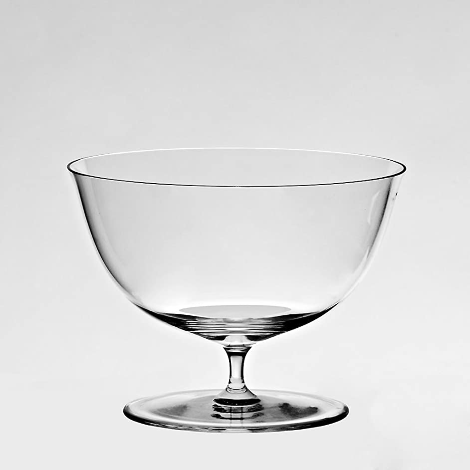 CRISTALICA Footed Dessert Bowl Trophy 12cm, Transparent, Lead Crystal Glass, Modern Style, Glass (German Crystal Powered