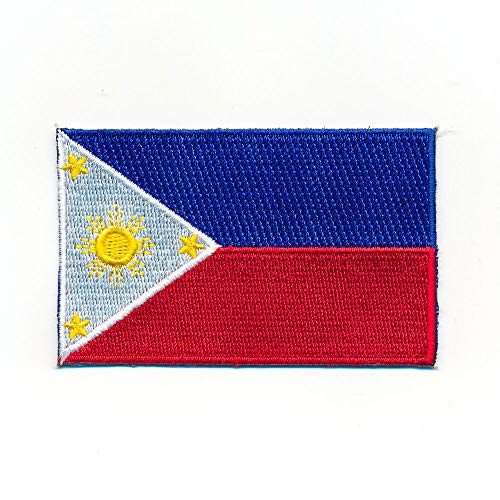 hegibaer 30 x 20 mm Philippinen Flagge Manila Luzon Patch Aufnäher Aufbügler 0114 Mini