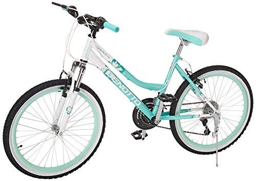 Benotto MSDMAD2421UNAQ Bicicleta de Acero Rodada R24, Dama, Frenos V, 21 Velocidades