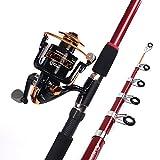 MIAO Caña de pescar, super duro duro de fundición Carbon Rods Set Mar Rod Pesca artes , 2.4m
