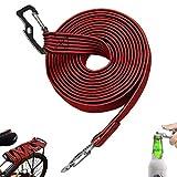 Corda Elastica per Bagagli Corda Elastica Universale Multiuso con Gancio in Acciaio al Carbonio, Resistente Regolabile Corda Elastica Lunga per biciclette Auto Elettriche, 4 Metri