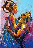 Yugipotu DIY油絵 - 数字美少女男性と女性アートキャンバスキット手描きアート絵ホームウォールの装飾ギフト 40X50CM
