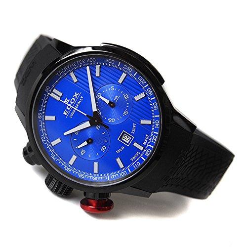 Edox chronorally orologio Uomo Analogico Al quarzo con cinturino in Gomma...