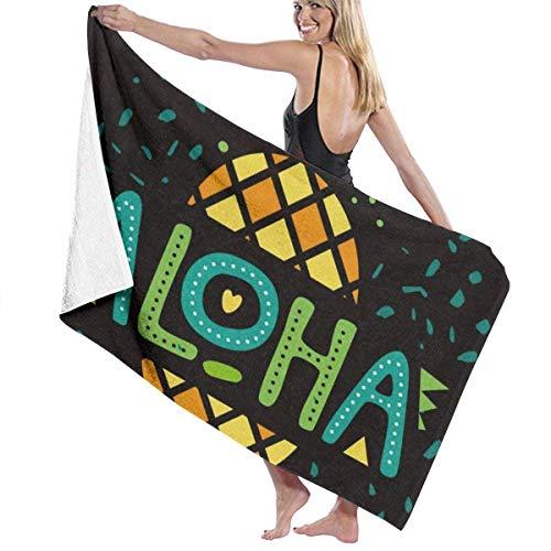 Ewtretr Toalla de Playa Bath Towels Pineapple Fruit Microfiber Bath Towel Soft High Absorption Quick Drying Bathroom Travel Sports and More130cmx80cm