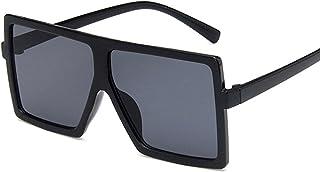 Kjhkmn&bbhdsb - Gafas de Sol Gafas De Sol para Niños con Montura Cuadrada De Gran Tamaño, Gafas De Sol Uv400, Gafas Graduadas De Moda para Niños Y Niñas, Unisex