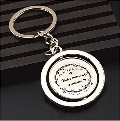 Personalised Stainless Steel Pendant Keyring Personalised Wedding Gift Logo