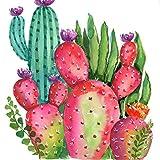 Kit de pintura de diamants 5D de *Bimkole per a manualitats, kit de pintura amb diamants de cactus, planta vermella, planta de flors, perforació, joc complet de *estrás amb decoració, 30 x 40 cm