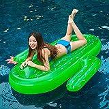 HSTD Aire Libre Flotador de Juguete Cactus Colchoneta Hinchable Piscina, Balsa Inflable Piscina para Fiesta Navideña, para Adultos y Niños, 180X145CM Cactus