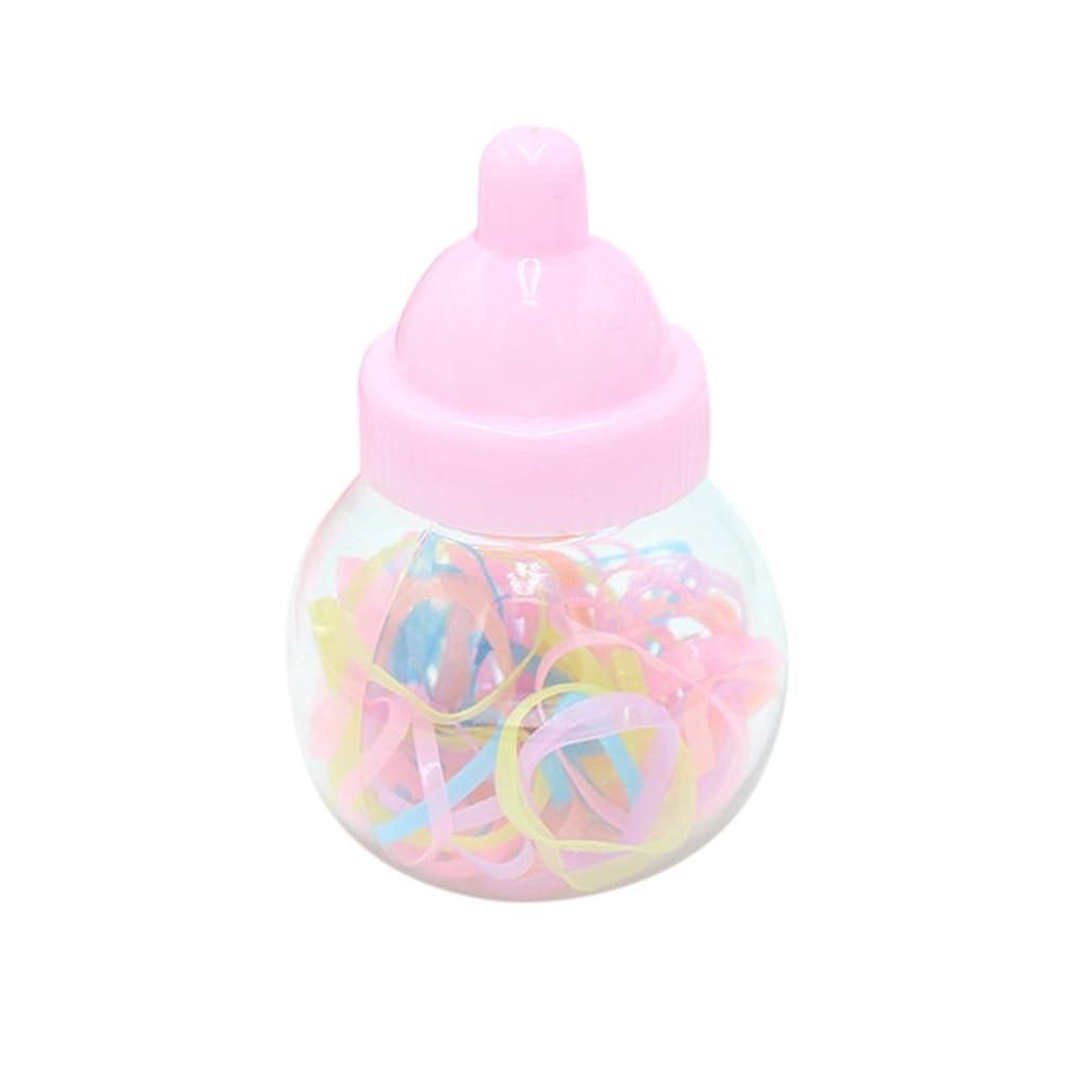 予測のれん法律RaiFu ヘアバンド タイエラスティック 柔らかい ゴム ポニーテール ホルダー かわいい クリエイティブ 耐久性 ヘアアクセサリー 子供 小型ボトル