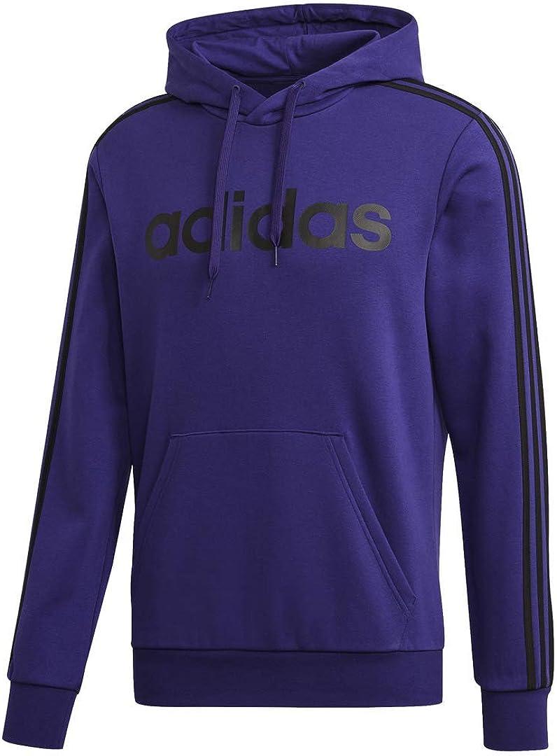 Amazon.com: adidas Men's Essentials 3-Stripes Pullover Hoodie ...