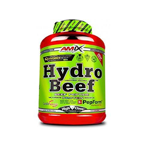 AMIX - Hydrobeef Protein - Suplemento de Proteína en Polvo para Aumentar la Energía - Ideal para Atletas y Culturistas - Sabor Cacahuete, Choco y Caramelo - 2 KG