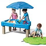 Step2 Cascading Cove Sand & Water Table with Umbrella | Kids Sand &...