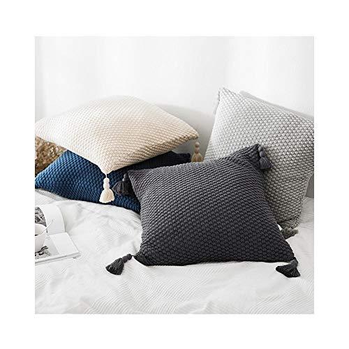 7777777 Kussen Knit Kussen Cover Kussensloop Sofa Auto Home Decoratie Kussensloop voor Woonkamer/Slaapkamer