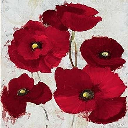 Kindle Poppies I Poster Print by Lanie Loreth (24 x 24)