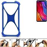 K-S-Trade® Handyhülle Für Xiaomi Mi8 Youth Silikon Schutz Hülle Cover Case Bumper Silikoncase TPU Softcase Schutzhülle Smartphone Stoßschutz, Blau (1x),