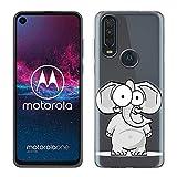 Yoedge Motorola One Action Hülle, Silikon Transparent TPU Schutzhülle Handyhülle mit Muster Motiv Hülle Superdünn Stoßfest Rückschale Tasche Weiche Back Cover Motorola One Action 6,3