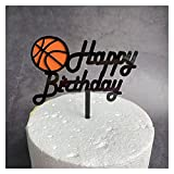 Cake Topper 1 Set Baloncesto Feliz Cumpleaños Toppers Toppers Fútbol Cumpleaños Acrílico Cake Topper para Baby Shower Party Pastel Postre Decoración (Color : 1PCS)