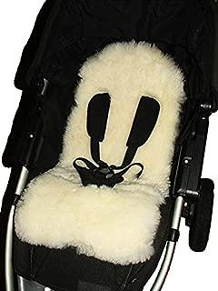 Natural 100% Sheepskin Baby Buggy Liner Stroller Pushchair Pram Liner
