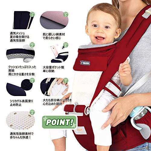 【安全基準認証合格6WAY】抱っこ紐 多機能 ヒップシート使える【2020最新改良版】安全ベルト付き 肩ベルト付き おんぶ可 新生児から乳児まで 0-36ヶ月使える 対面抱っこ 前向き抱っこ よだれパット付き 防寒フード付き 四季兼用 装着簡単 疲れにくい腰ベルト 軽量 母の日 ギフト レット