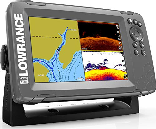 Lowrance HOOK2 7 - 7-inch Fish Finder with SplitShot Transducer and US/Canada Navionics+ Map...